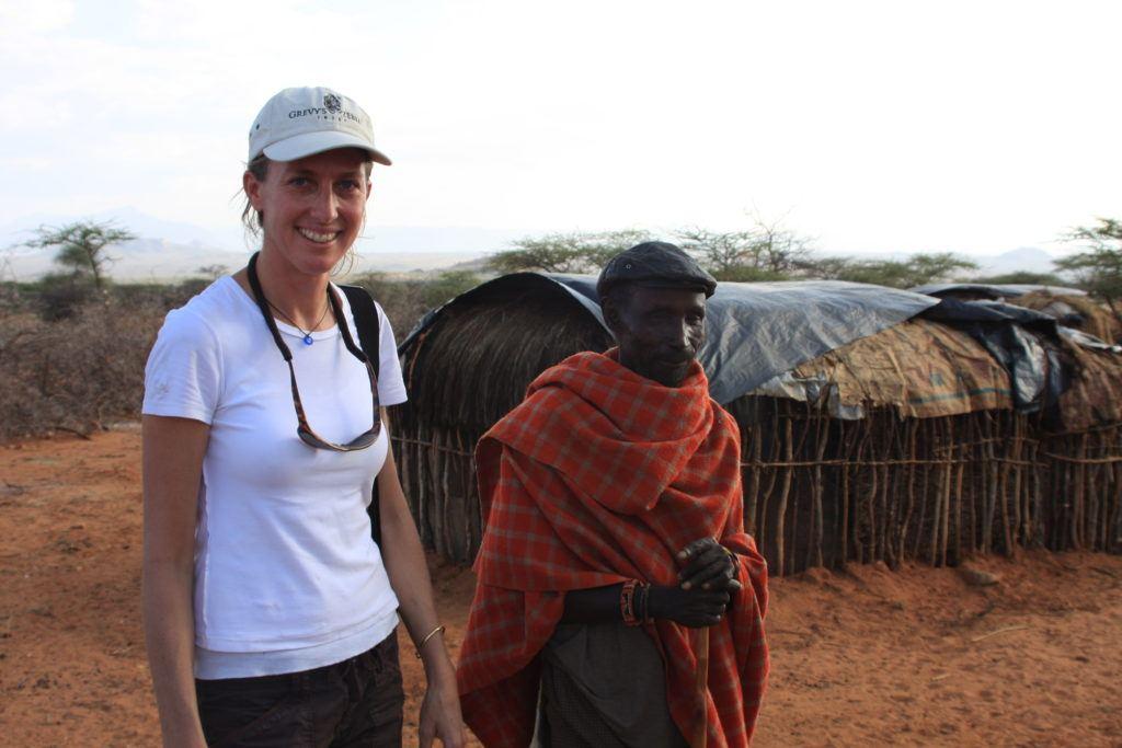Belinda Low with Samburu elder_Kim Diment
