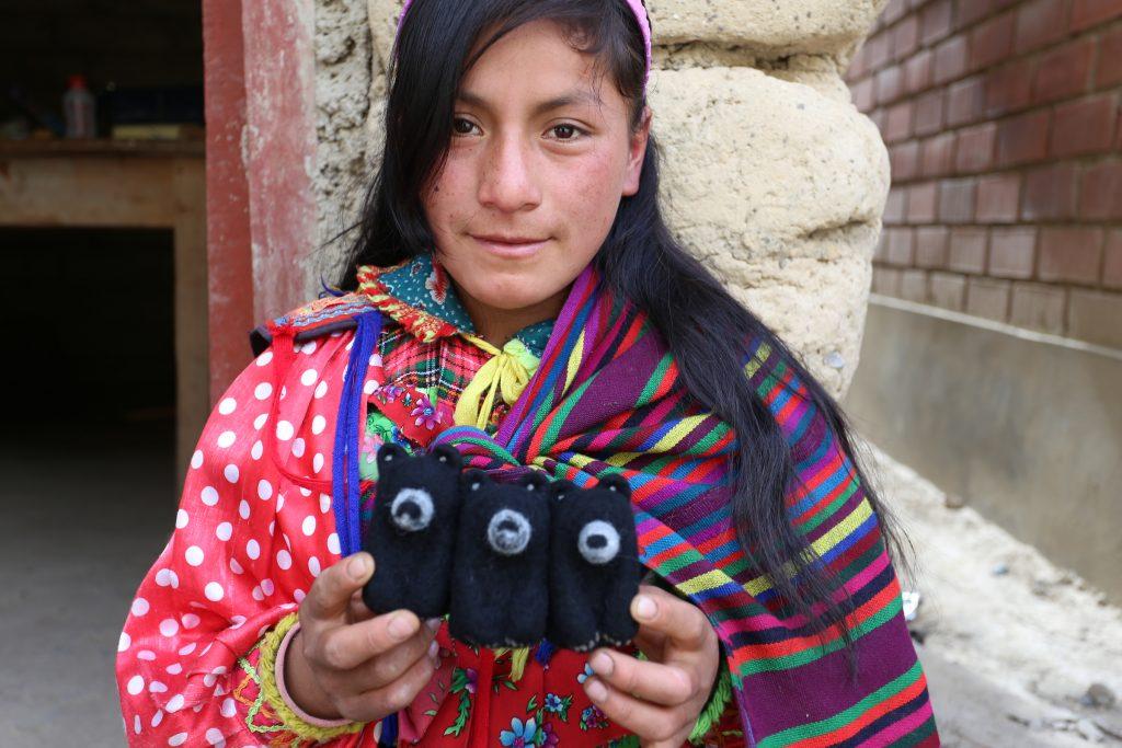 Woman in felti program.